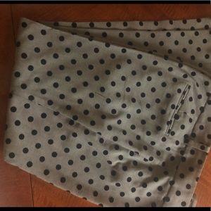 Ann Taylor Signature Slacks Gray with Black Dots